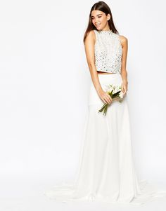ASOS Bridal Maxi Skirt with Puddle Train