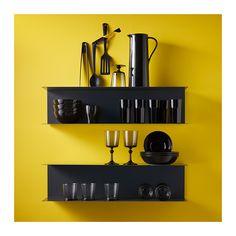 BOTKYRKA Seinähylly - harmaa - IKEA