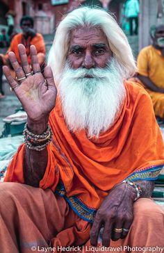 Holy Man Sham Holy Man, Varanasi, India