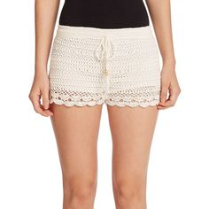 Joie Maera Lace Shorts (805 RON) ❤ liked on Polyvore