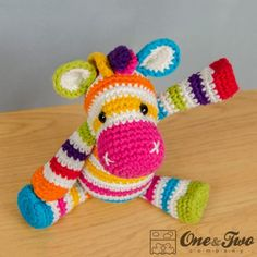 Rainbow Zebra Lovey and Amigurumi Crochet Patterns Pack