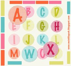 MeinLilaPark: ☞ Round up of free alphabet printables - letters, monograms, initials - ausdruckbare Alphabete Free Printable Planner Stickers, Free Printable Alphabet Letters, Free Printables, Party Printables, Alphabet A, Diy Sticker, Banner Letters, Freebies, Scrapbook Paper