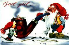 Julekort Gunnar Bratlie Utg Aune 1953