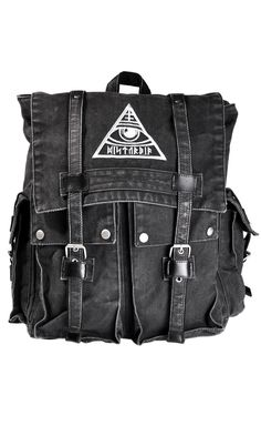 All-Seeing Backpack #disturbiaclothing disturbia metal silver alien goth occult grunge alternative punk