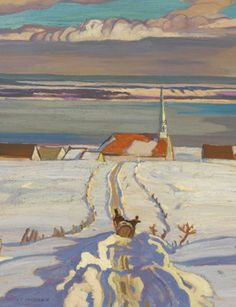 Painting Canada: Tom Thomson and the Group of Seven - Images and Video Tom Thomson, Winter Landscape, Landscape Art, Landscape Paintings, Art Paintings, Canadian Painters, Canadian Artists, Winter Painting, Winter Art