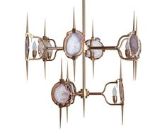 Love this use of natural stone to create a unique lighting fixture!  Luxe Market: This Week's Featured Products - September 25, 2014