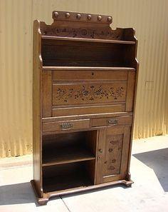 Antique Furniture Antique Victorian Oak Secretary Desk!  $1395