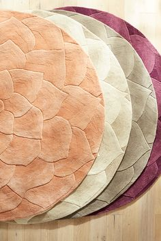 Long after the flower girl has completed her duties, you can still have roses strewn at your feet with Pier 1's aptly dubbed Rose Tufted Rug. Crafted in India from 100% high-quality wool, each rug is tufted and carved by hand. Petals are slightly raised for a unique sculpted appearance. You can register for one at the Pier 1 Imports Gift Registry, powered by myregistry.com.
