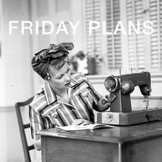 Friday Night = Sewing Night . . . . . . . . .  #ilovelucy #lucy #lovelucy #50s #sewing #sewingmachine #friday #tgif