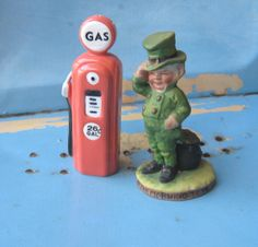 Vintage Leprechaun Figurine / Top o the by LittleExtrasVintage, $18.99