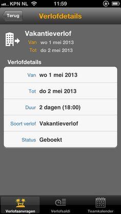 SAP leave request, de verlofapp van P-direkt