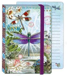 Punch Studio Soft Cover Bungee Journal Dragonfly