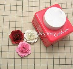 CardNation~手作りカードで繋ぐ「心」-クラフトパンチ バラ
