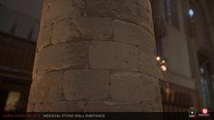 Medieval Stone Wall / Substance Designer, Chris Hodgson on ArtStation at https://www.artstation.com/artwork/o0nGm