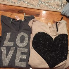 Love and heart long sleeve pullovers Excellent condition No Boundaries Tops Sweatshirts & Hoodies