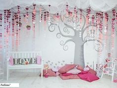 Stage Decorations, Valentine Decorations, Paper Flower Backdrop, Paper Flowers, Asian Home Decor, Photo Booth Backdrop, Backdrops For Parties, Photography Backdrops, Event Decor