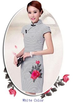 Fashion Style Slim Stripe Embroidery Chirpaur Dress--Click the picture can place an order,additional discount,15% off at most on the basis of wholesale price. #shoes #wholesale #fashion #lovely #cheap #Korean #dress #sexy #clothes