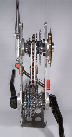 The beautiful Phaser bicycle gearbox...