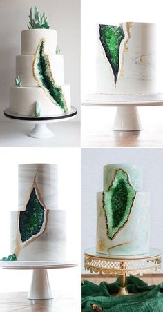 12 Emerald wedding cake geode wedding cakes green wedding ideas - Wedding stuff - You are in the right place about chocolate wedding cake tropical Here we off Bolo Geode, Geode Cake, Floral Wedding Cakes, Purple Wedding, Trendy Wedding, Geode Wedding Cakes, Emerald Wedding Theme, Floral Cake, Gold Wedding