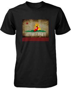 Men's Graphic Black T-Shirt Chilifornia Republic