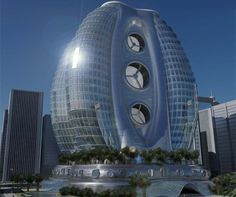 picture's of green smycrapers | eco egg skyscraper, sustainable architecture, green building, michael ...