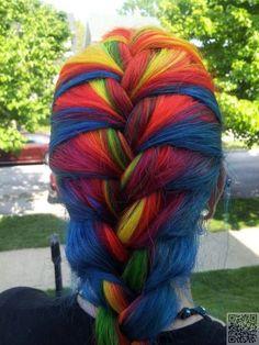 27. #Radical Rainbow - 35 #Beautifully Bold Hair Colors to #Consider ... → Hair #Little