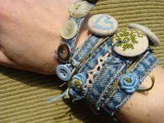 Spijker-wikkel-armband  [ denim-wrap-bracelet]