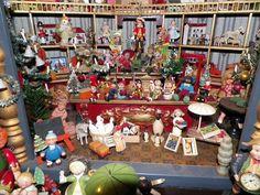 Rare German Miniature Toy Shop- Erzgebirge, Hantel, Christmas from toydoctor on Ruby Lane