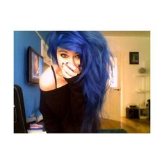 scene girl | Tumblr ❤ liked on Polyvore featuring hair, people, girls, pictures and blue hair