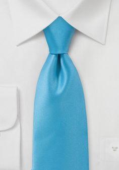 Herrenkrawatte monochrom Kunstfaser blaugrün
