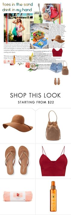 """""""TOES IN THE SAND , DRINK IN MY HAND"""" by mimas-style ❤ liked on Polyvore featuring Balmain, Levi's, Donald J Pliner, Aéropostale and ban.do"""