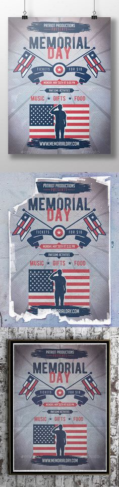 Memorial Day Flyer Template PSD. Download here: http://graphicriver.net/item/memorial-day-flyer-template/16131046?ref=ksioks