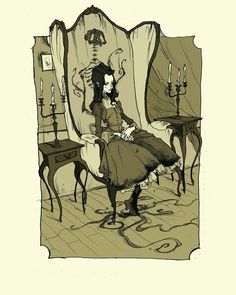 'The Child of Morella' by Abigail Larson. Morella's child from Poe's tale 'Morella'. I can't believe this story doesn't get more credit. Demon lovers and their creepy offspring make for awesome bedtime reading!