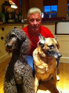 Derek and his two dogs