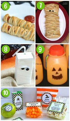 Fun Ideas for Halloween Lunch , Fun Ideas for Halloween Lunch , Preschool Halloween Party, Halloween Snacks For Kids, Preschool Snacks, Halloween Fun, Halloween Foods, Halloween Birthday, Fun Ideas, Party Ideas, Kids Meals