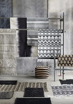 Rug Spring Ad0335 Black/White — Bodie and Fou - Award-winning inspiring concept store