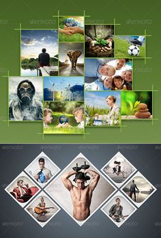 Amazing Collage Templates in Photoshop - Photo Frame Templates Bundle - Free Collage Templates, Photoshop Collage Template, Frame Template, Photo Collage Design, Photo Frame Design, Image Collage, Photo Collages, Foto Gift, Banner Design Inspiration