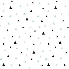 Minimalist wallpaper with triangles in soothing colors. The non-woven wallpaper, a material between fabric and paper, from Lilipinso is strong and Triangle Wallpaper, Triangles, Kids Room Wallpaper, Minimalist Wallpaper, Soothing Colors, Paper Decorations, Digital Pattern, Origami, Fabric