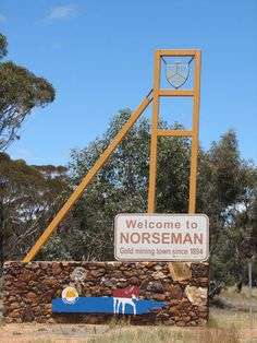 Norseman is a town located in the Goldfields-Esperance region of Western Australia along the Coolgardie-Esperance Highway. It may be the only town in WA named after an animal. In 1894 Laurie Sinclair was camping in the area when his horse uncovered a gold nugget while pawing at the ground. The horse's name? Norseman of course!