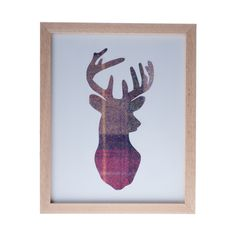 Berry Tweed Stag Head Silhouette Picture. via Etsy definitely other applications....