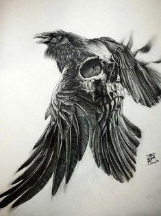 Quel symbole famille tatouage idée tatouage homme aigle et crane tatouage  effrayant Tatouage Artistique, Tatouage c98cbb3a057