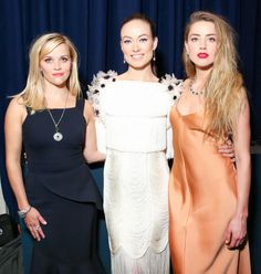 Reese Witherspoon, Olivia Wilde, and Amber Heard at the 2015 Tiffany Blue Book Dinner. See the other celebrities on the mid-April party scene and what they wore.