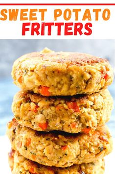 These Sweet Potato Fritters are the best ever!! I love these for lunch or dinner and are great for meal prep! Super easy to make and these are an awesome vegetarian and healthy recipe idea.