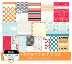 Designed by Lili Niclass Project Life® simplifies how you document life and preserve memories. Digital Project Life, Title Card, Lily, Quilts, Create, Projects, Cards, Design, Comforters
