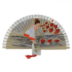 Hand Fans, Home Appliances, Hands, Ideas, Flower, Vestidos, Painted Fan, Design Styles, Paintings
