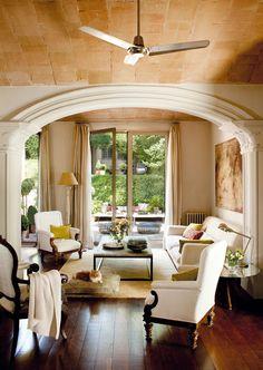 Open living room to the garden