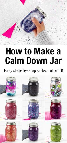 If you are looking for the ultimate resource on how to make a glitter jar, we've got you covered! Shared below is everything you need to know to make and use DIY glitter jars; a beautiful, calming, and easy sensory activity for kids. Diy For Teens, Crafts For Teens, Kid Crafts, Summer Crafts, Toddler Crafts, Creative Crafts, Easy Crafts, Glitter Projects, Glitter Crafts