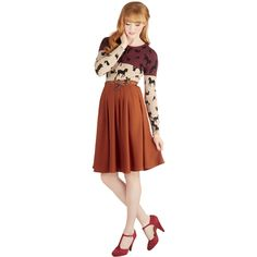 Folk Art Long Full Breathtaking Tiger Lilies Skirt ($50) ❤ liked on Polyvore featuring skirts, bottoms, orange, women's clothing, long skirts, orange pleated skirt, calf length skirts, mid calf skirts and long midi skirt
