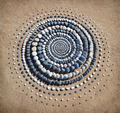 """""""II Ad Unum"""" Freshwater West, Pembrokeshire Stones, Leaves, and Shells Whorl in Hypnotic Land Art by Jon Foreman Land Art, Stone Decoration, Sand Drawing, Rock Sculpture, Stone Sculptures, Abstract Sculpture, Bronze Sculpture, Balance Art, Geometric Artwork"""