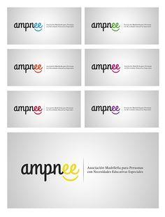 #Rediseño de la #identidad de Ampnee (asociación de educación especial de Madrid) por Mario Mimoso